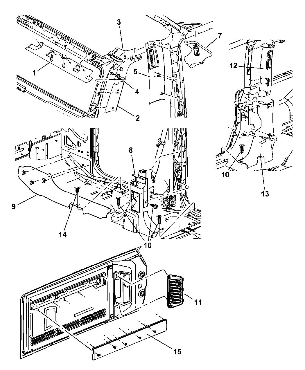 5KL73XDVAE - Genuine Mopar PANEL-B PILLAR