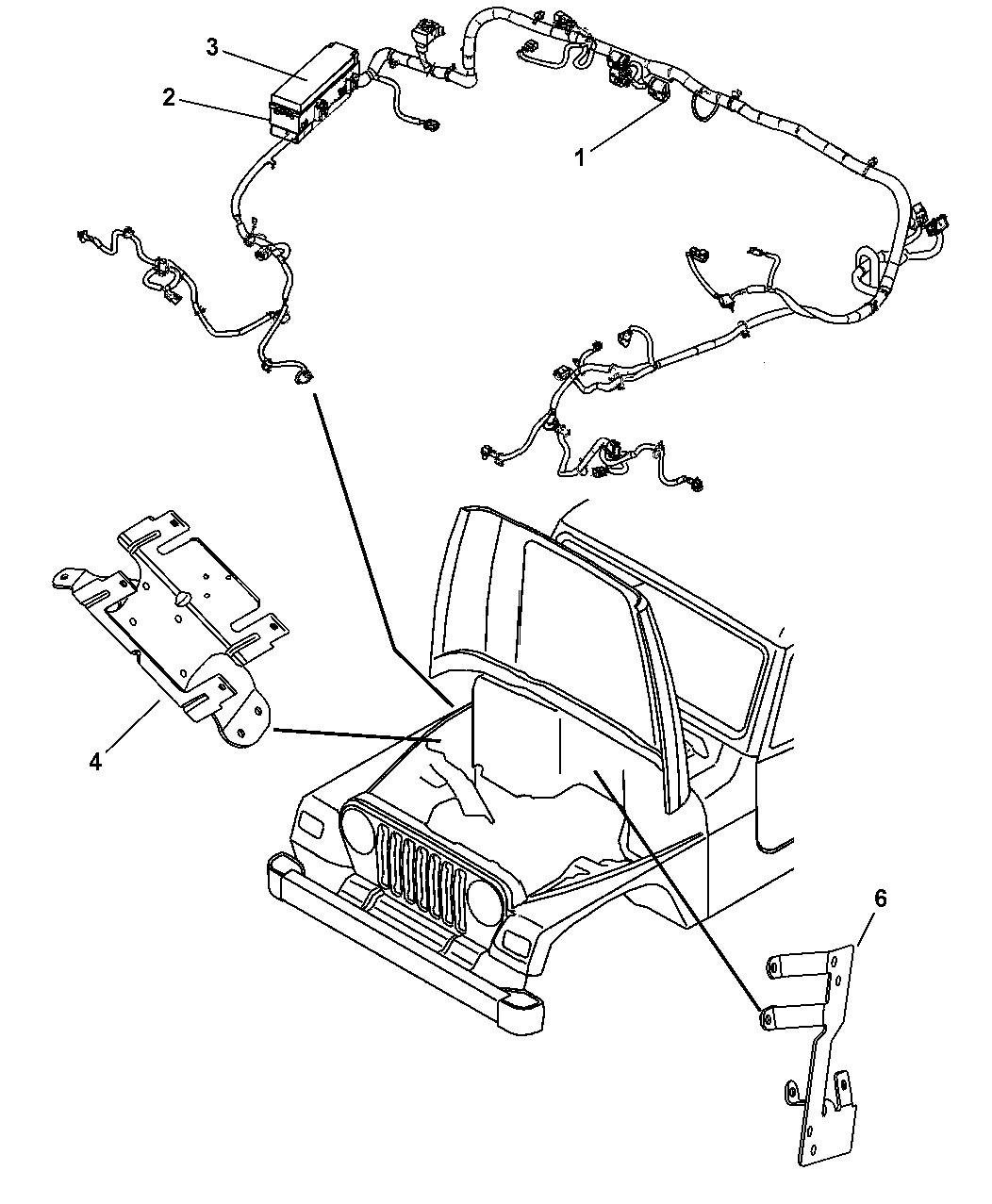 2006 jeep wrangler wiring headlamp dash panel. Black Bedroom Furniture Sets. Home Design Ideas