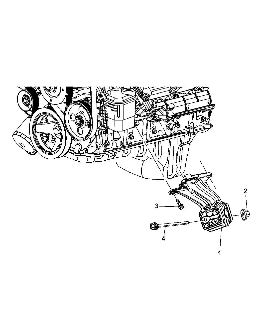 2008 Dodge Nitro Engine Mounting - Thumbnail 1