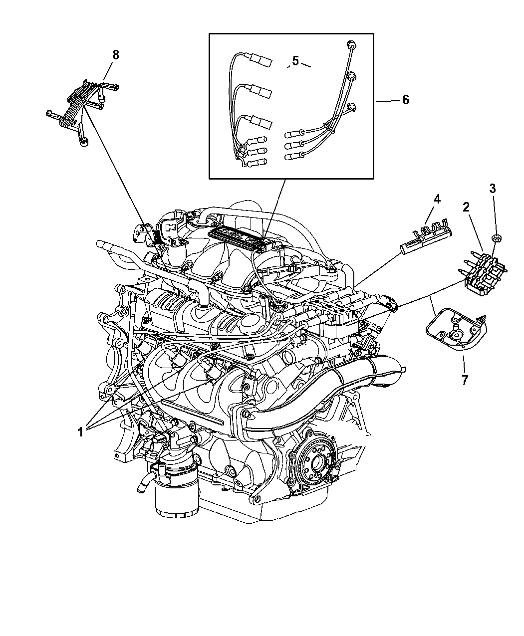 Wiring Diagram For 2008 Chrysler Pacifica Library Fuse Box 2006 Spark Plugs Ignition Wires And Coil