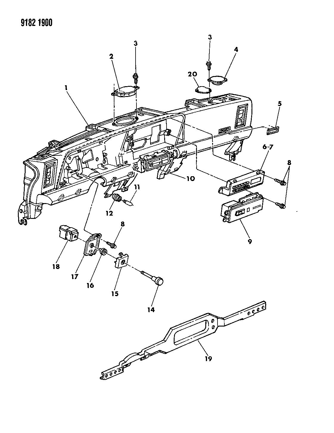 1989 chrysler lebaron gtc instrument panel panel, speakers 110 volt fuse box catalogue of schemas