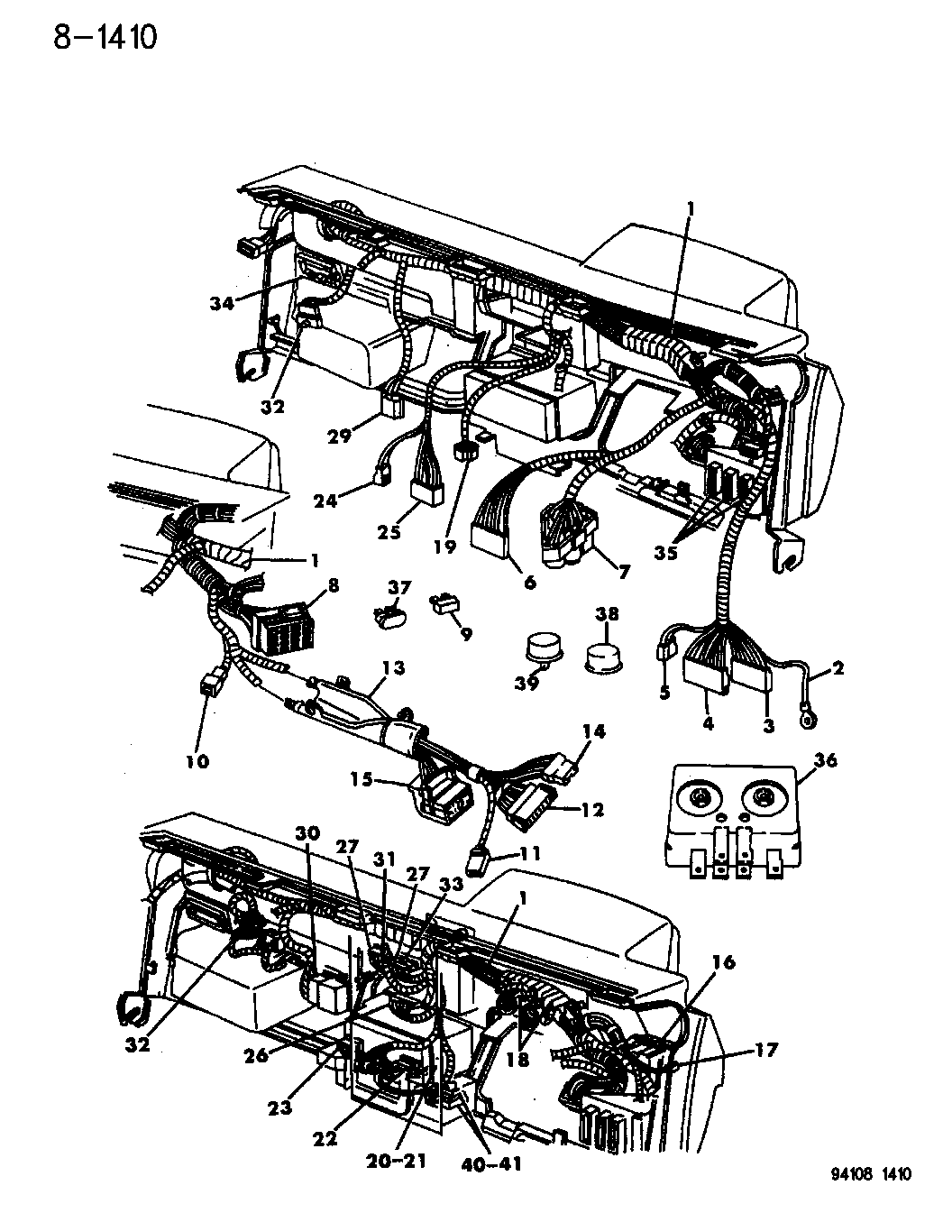1994 dodge shadow wiring - instrument panel
