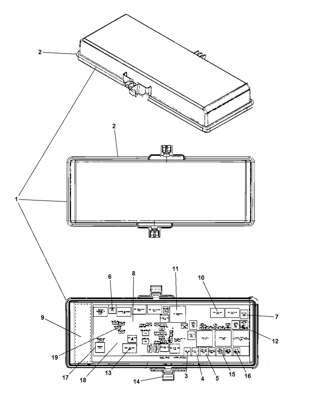 68143317ad genuine mopar module intelligent power. Black Bedroom Furniture Sets. Home Design Ideas