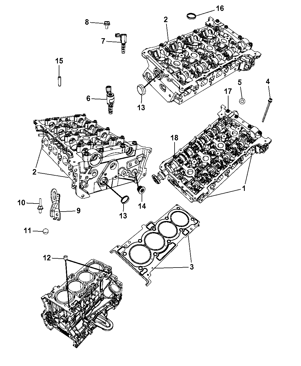 68034276AC - Genuine Mopar HEAD PKG-ENGINE CYLINDER