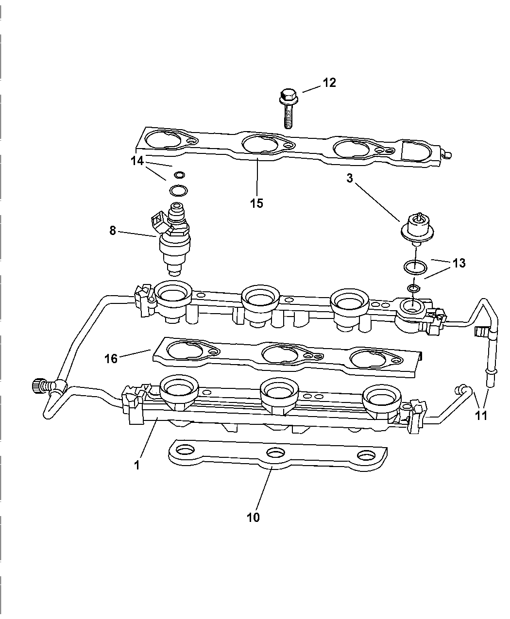 1997 Dodge Intrepid Fuel Rail - Mopar Parts Giant