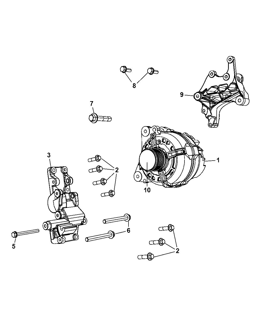 2008 Jeep Patriot Generator Alternator And Related Parts Wiring Diagram Sensors Thumbnail 1