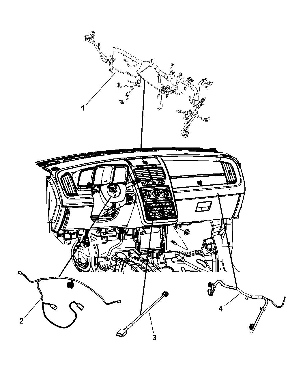 2010 Dodge Journey Wiring Instrument Panel - Mopar Parts Giant