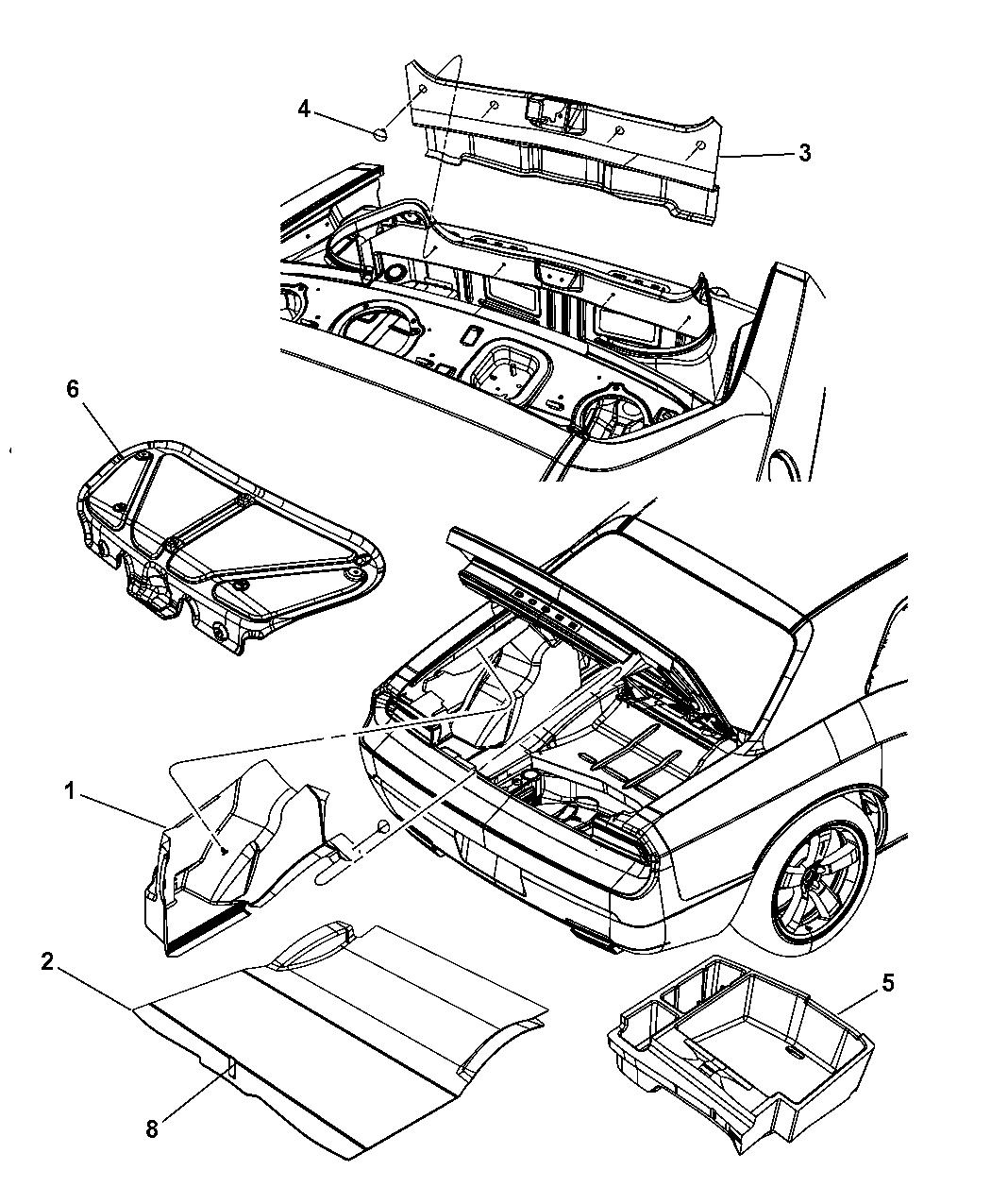 5030175ad Genuine Chrysler Support Load Floor