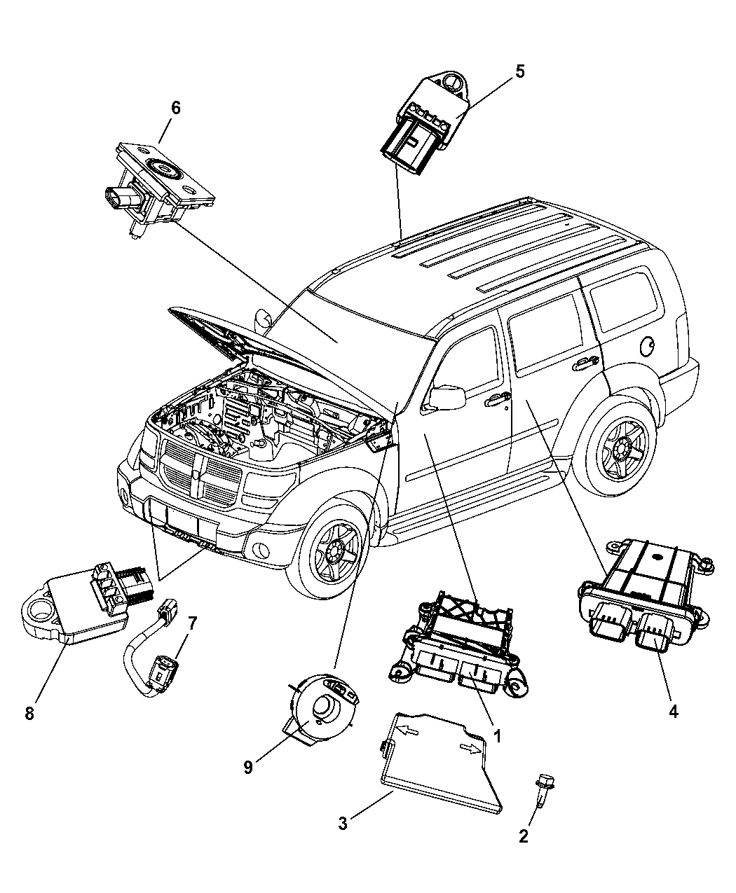 Air Bag Airbag Module Location