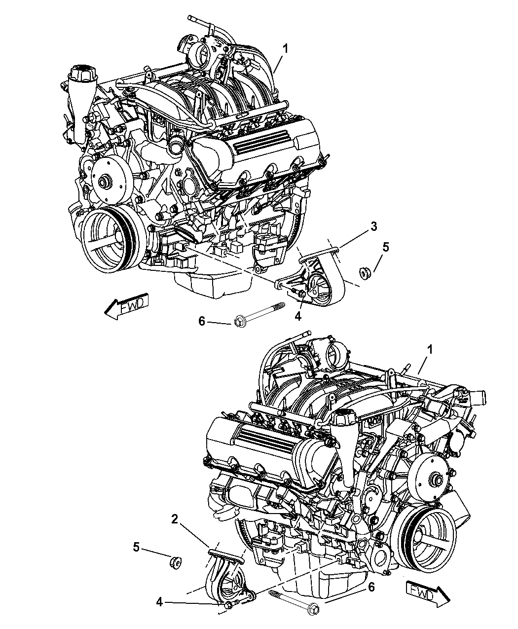52021834AA - Genuine Mopar INSULATOR-ENGINE MOUNT
