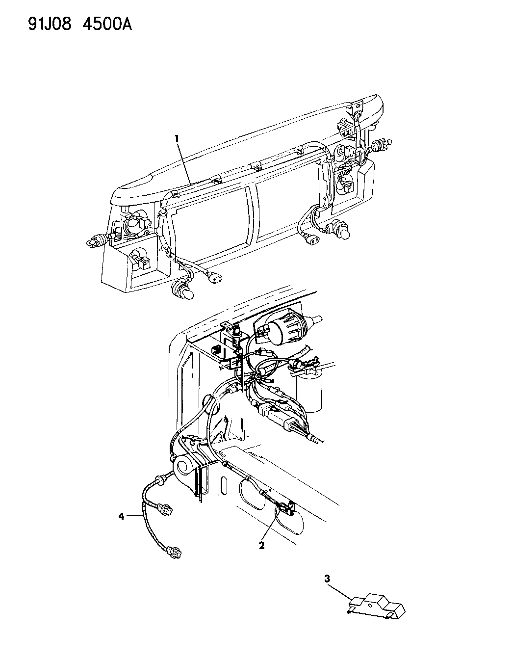 1992 Jeep Cherokee Wiring Front End Mopar Parts Giant 92 Diagram