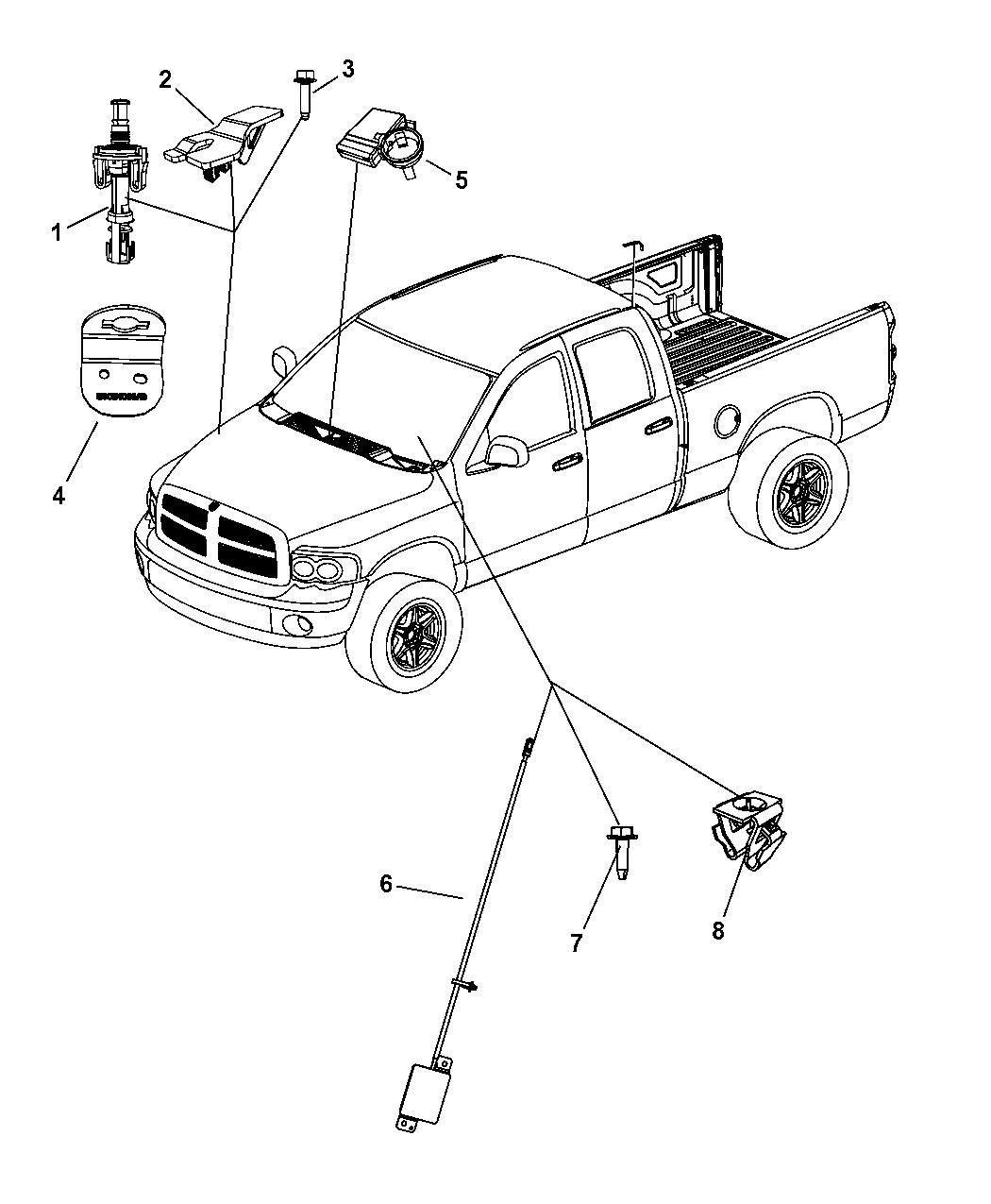 2008 Dodge Ram 3500 Pickup Starter, Remote Start