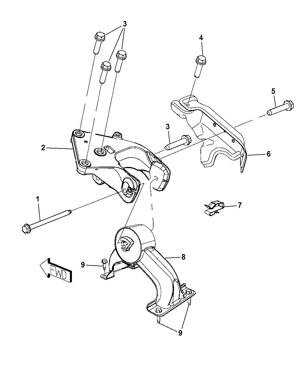 5273893ae genuine chrysler support engine mount rh moparpartsgiant com