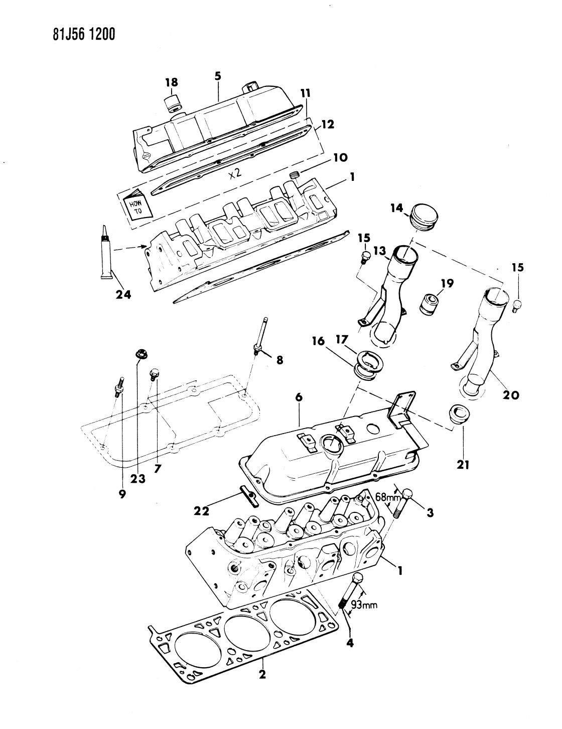 1985 Jeep Cherokee Cylinder Head - Thumbnail 1