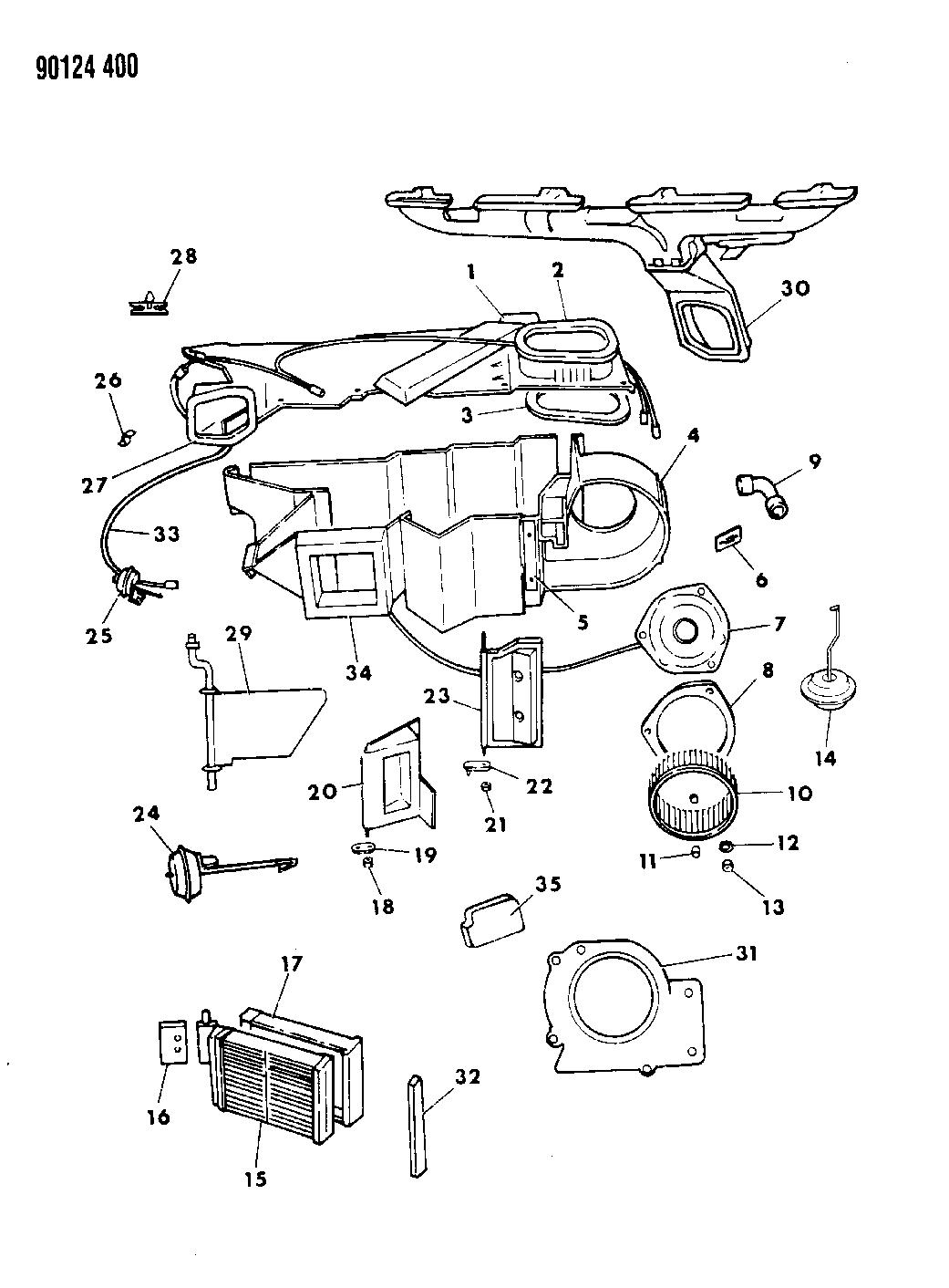 1990 Dodge Spirit Heater Unit