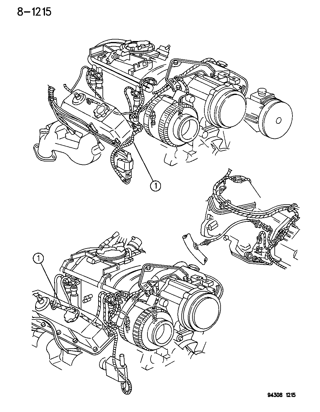 1996 Dodge Ram Van Wiring - Engine