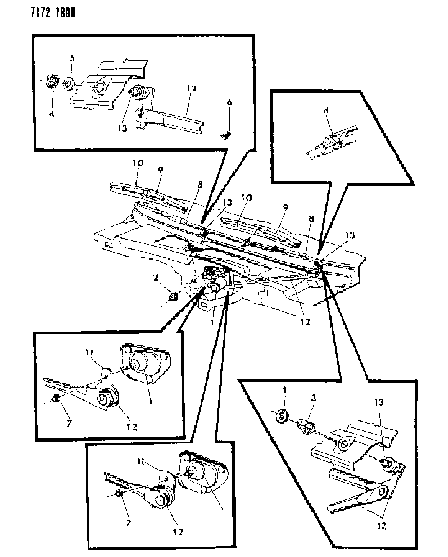 1987 Dodge Diplomat Windshield Wiper System