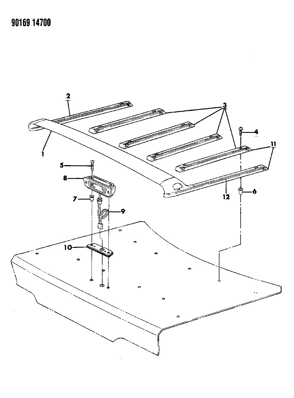 1990 Chrysler Imperial Deck Lid Rack Mopar Parts Giant Wiring Diagram