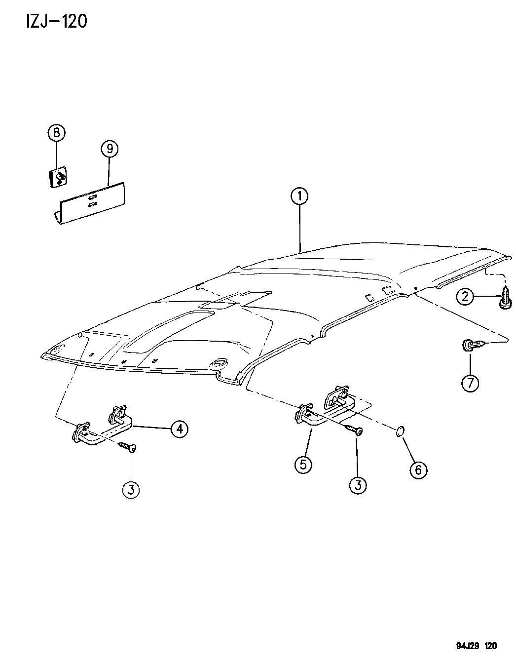 1996 Jeep Grand Cherokee Headliner Assist Handle 96 Wiring Diagram Of Roof