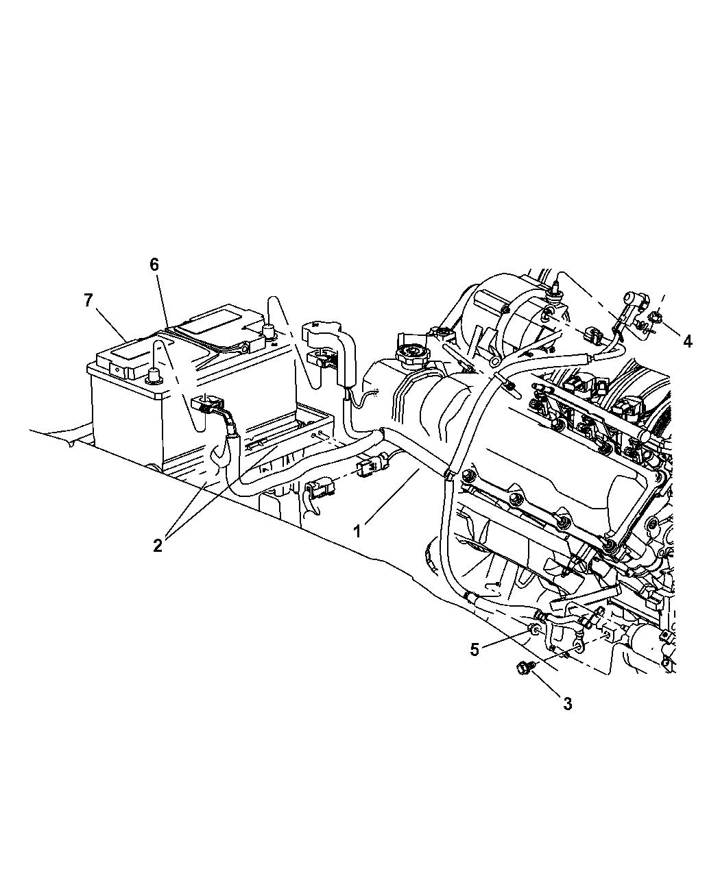 56047791ac Genuine Mopar Wiring Alternator And Battery
