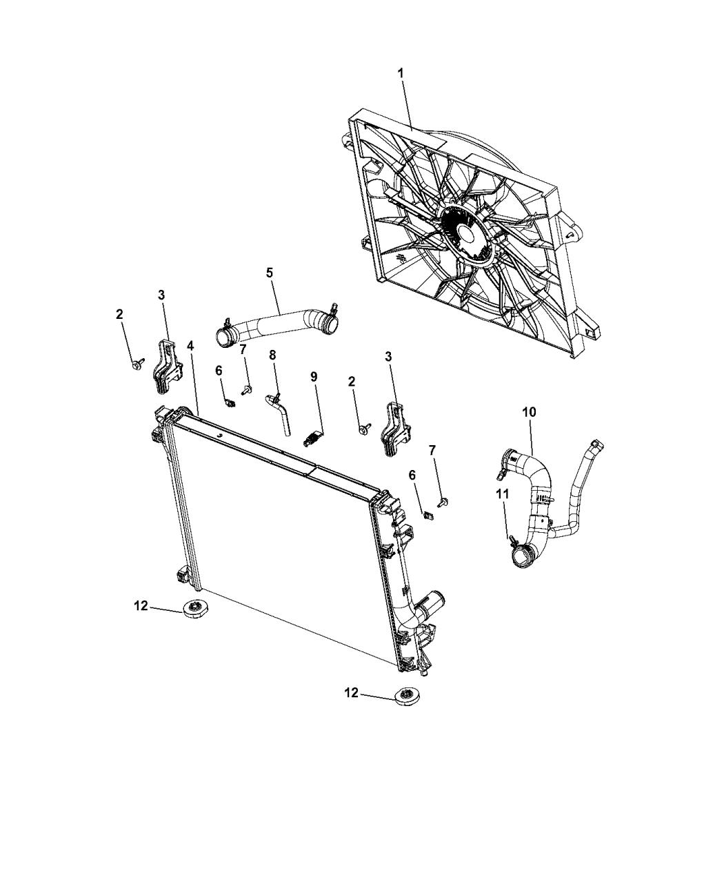 Strange 5181995Ab Genuine Mopar Fanmodule Radiator Cooling Wiring Digital Resources Remcakbiperorg