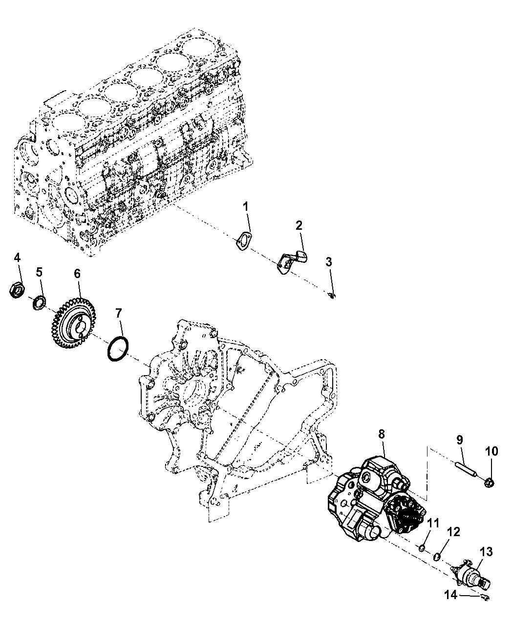 2010 Dodge Ram 3500 Pickup Fuel Injection Pump Filter Location
