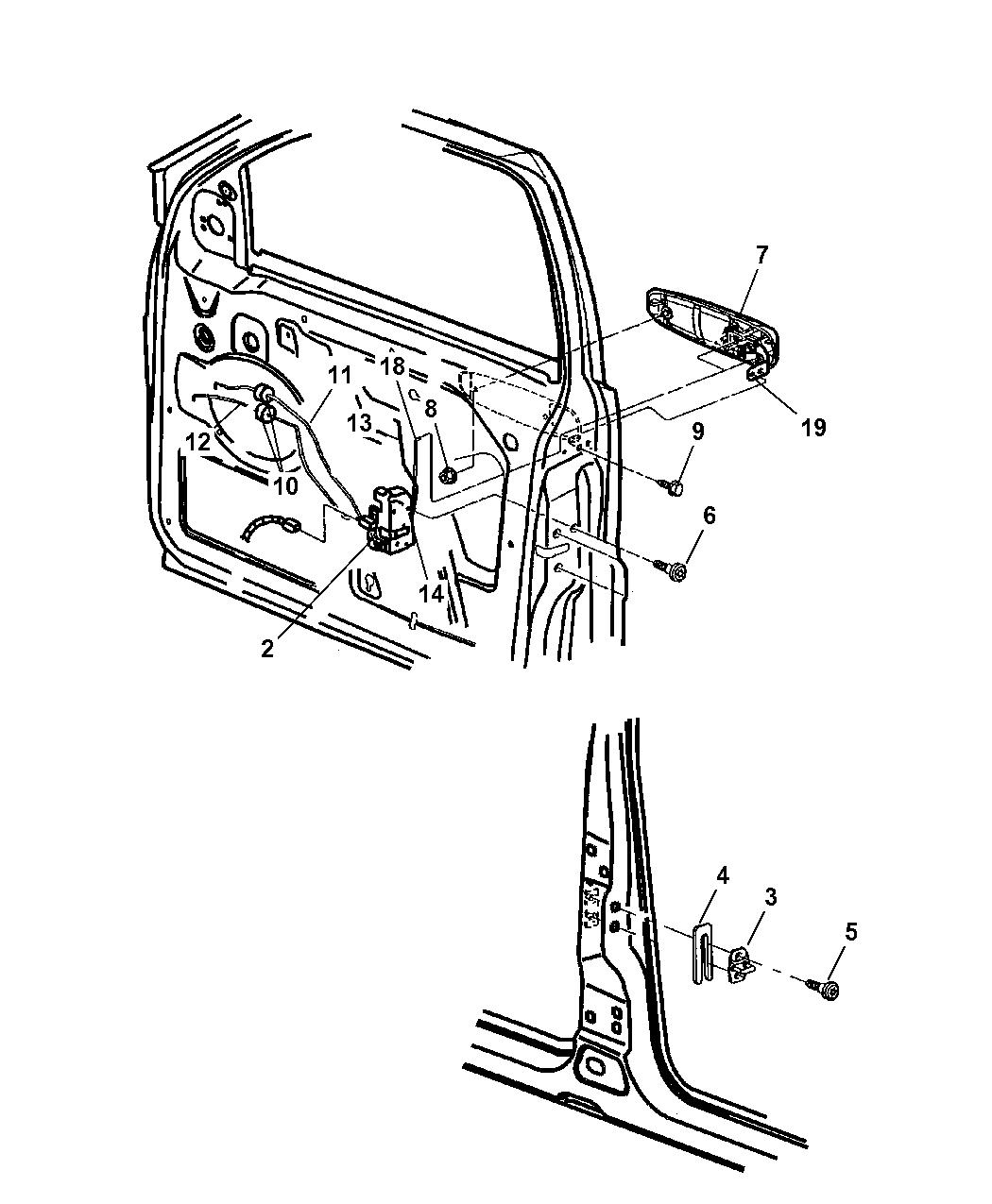 5014379aa Genuine Mopar Link Inside Handle To Latch 1999 Jeep Grand Cherokee Door Front Lock Controls