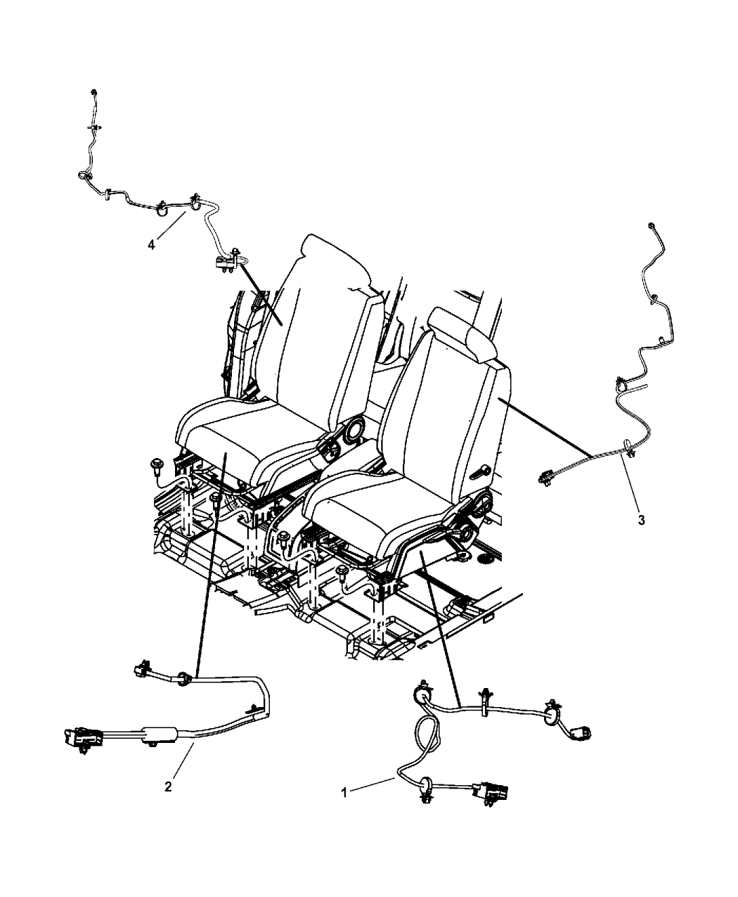 2009 Dodge Journey Wiring - Seats Front
