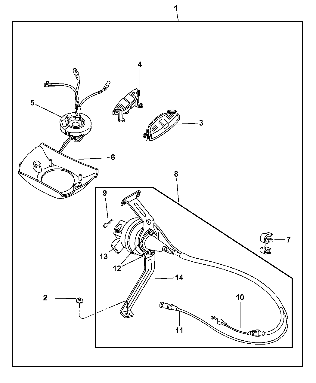 5015843aa Genuine Dodge Bracket Cruise Control Servo Diagram 2000 Durango Speed