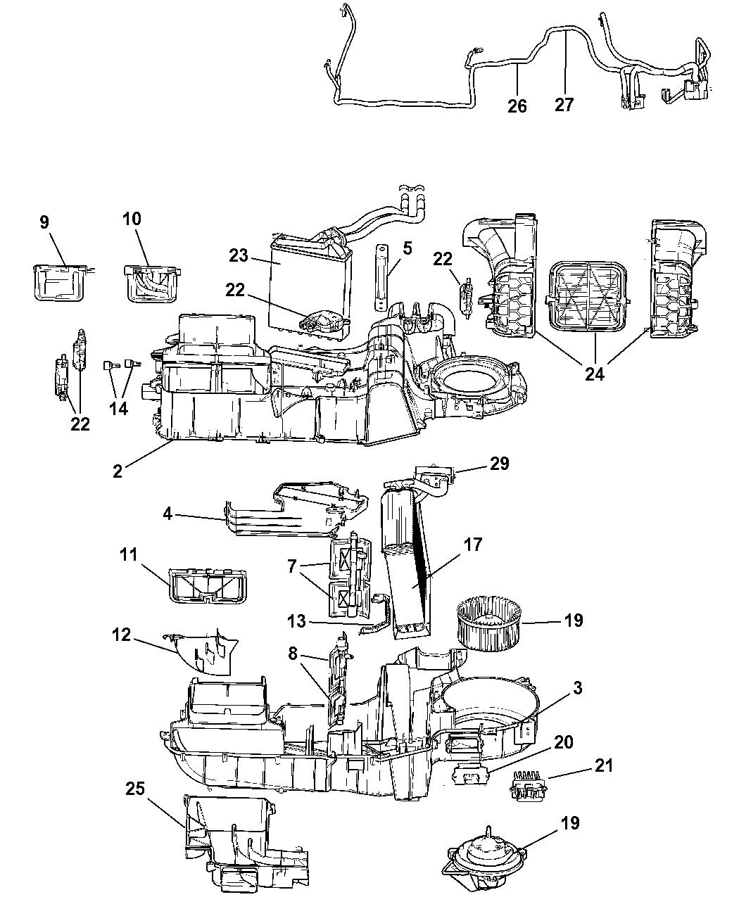 68001424AA - Genuine Chrysler HOUSING-AIR INLET