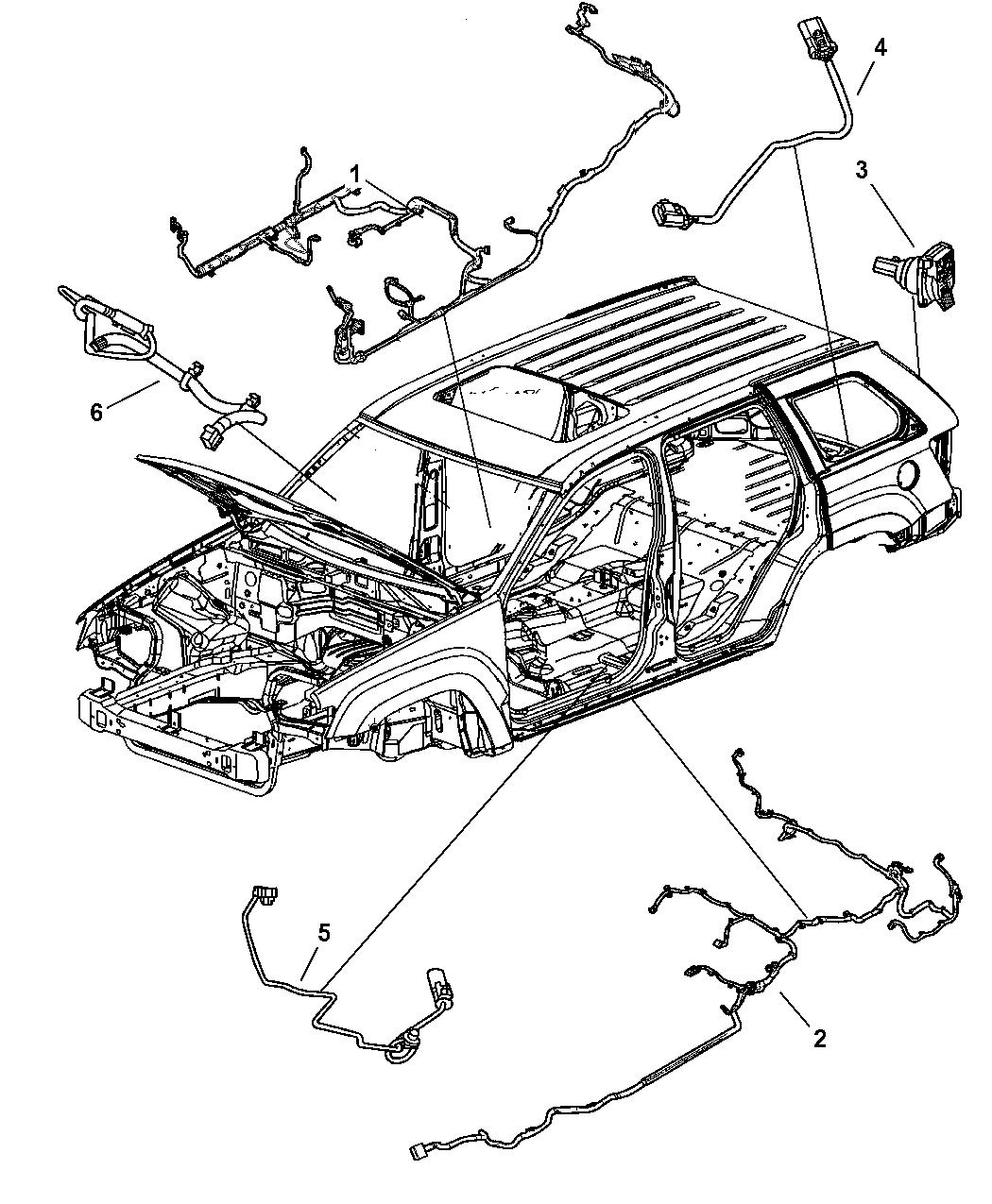 2006 Jeep Grand Cherokee Wiring Body Mopar Parts Giant