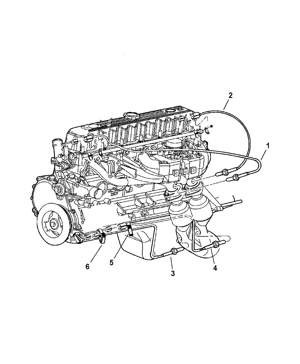 56028994ab Genuine Mopar Sensor Oxygen