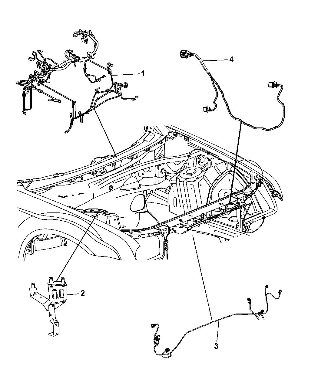 2012 Dodge Challenger Wiring Headlamp To Dash Mopar Parts Giant Diagram