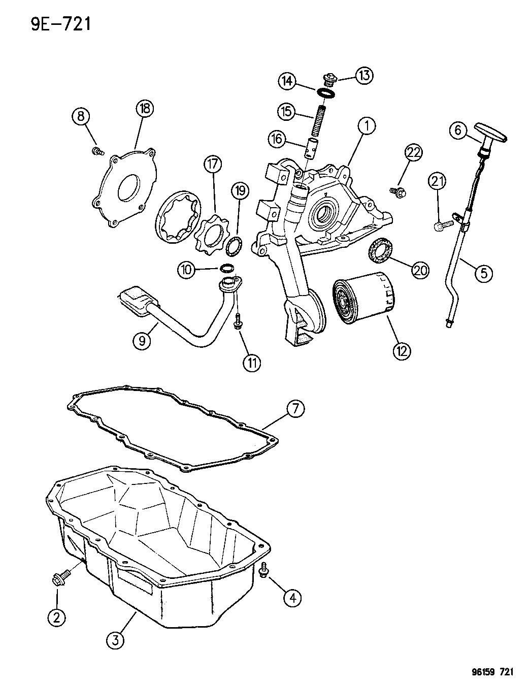 1996 chrysler sebring convertible engine oiling