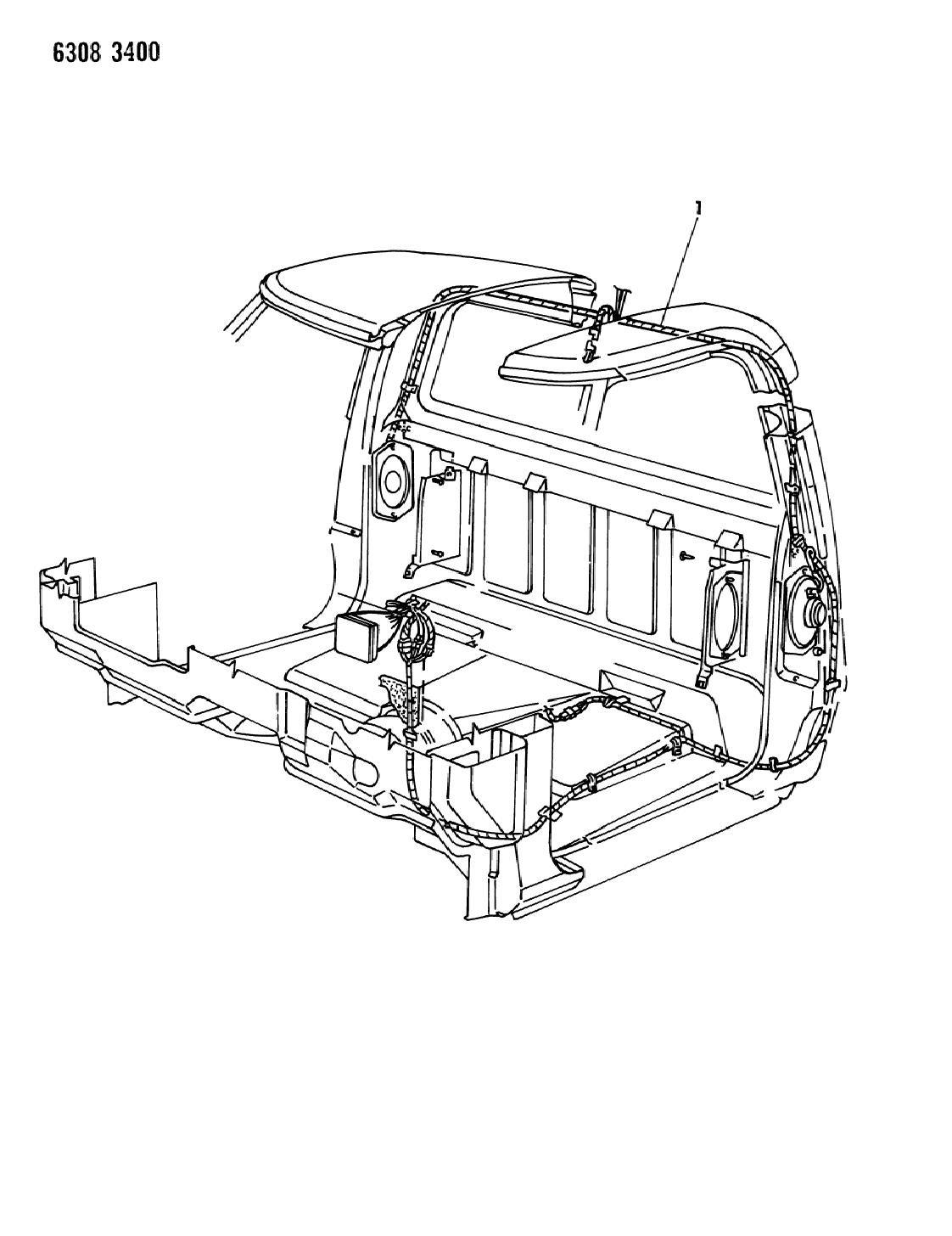 1987 Dodge D350 Wiring - Body & Accessories