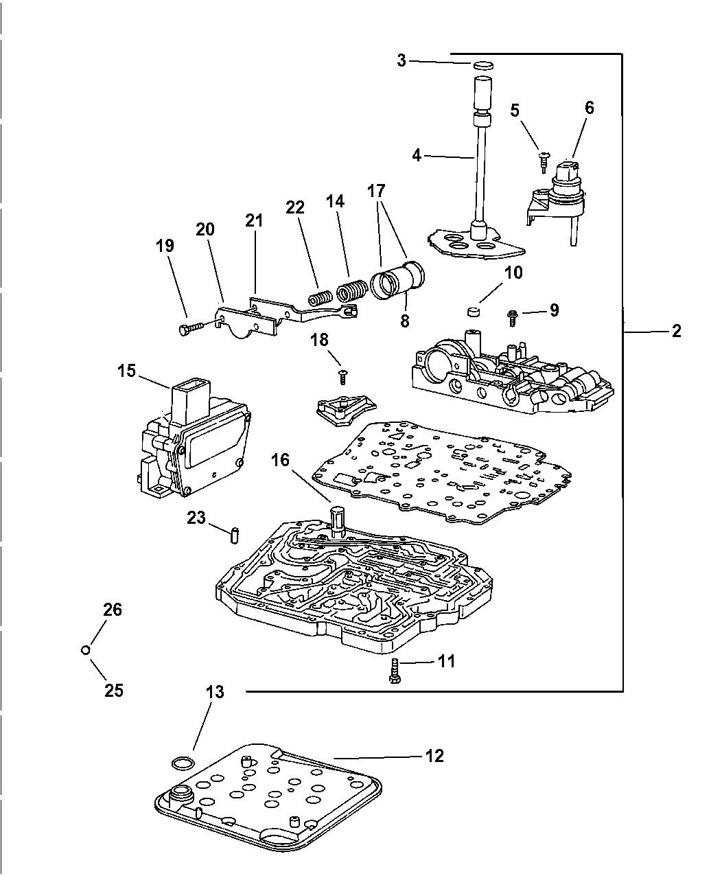 2004 jeep wrangler valve body
