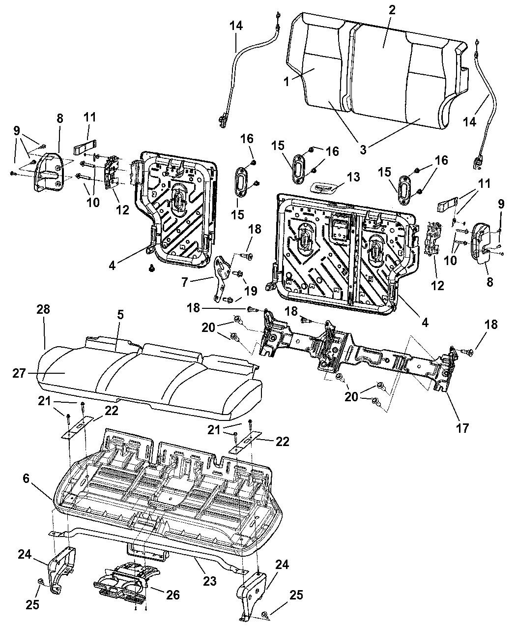 Genuine Mopar PAD-SEAT CUSHION
