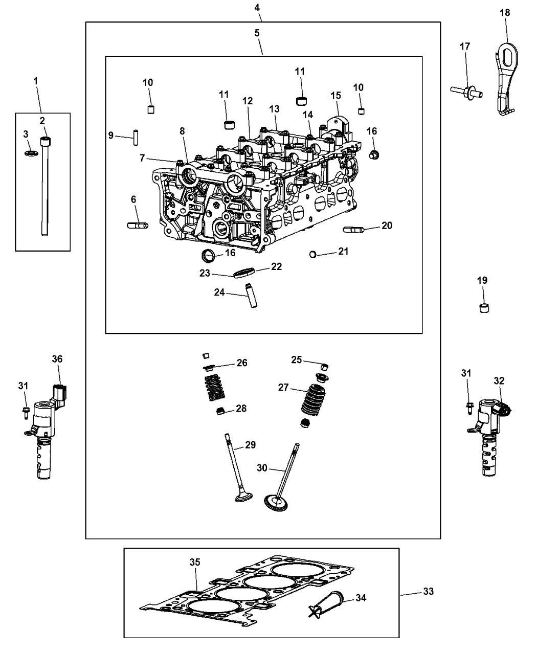 Genuine Dodge HEAD KIT-ENGINE CYLINDER