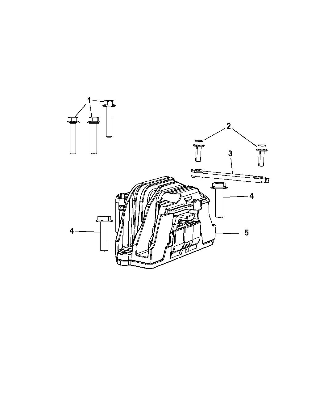 Genuine Chrysler 4766549AD Engine Mount
