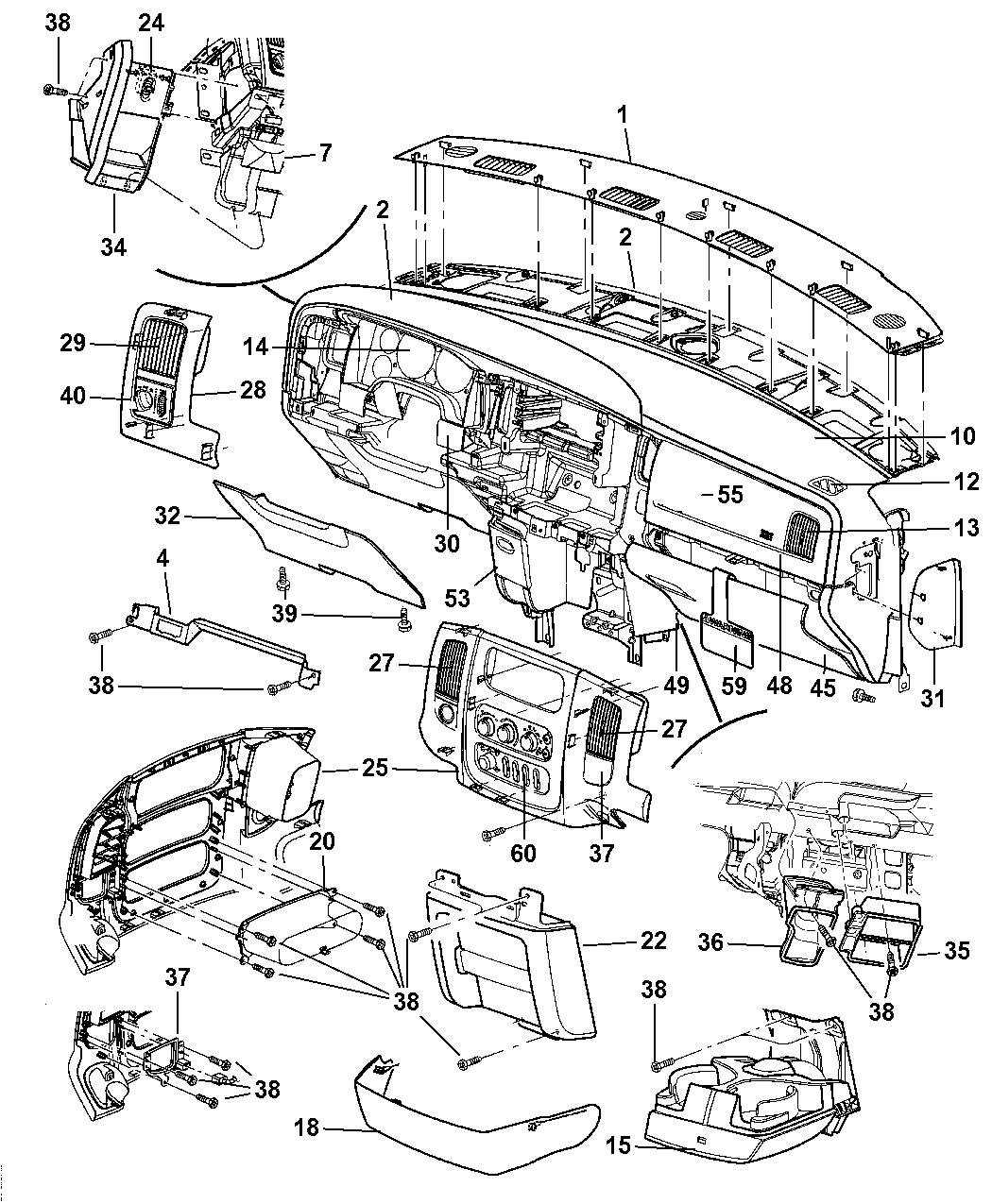 2005 dodge ram 1500 instrument panel