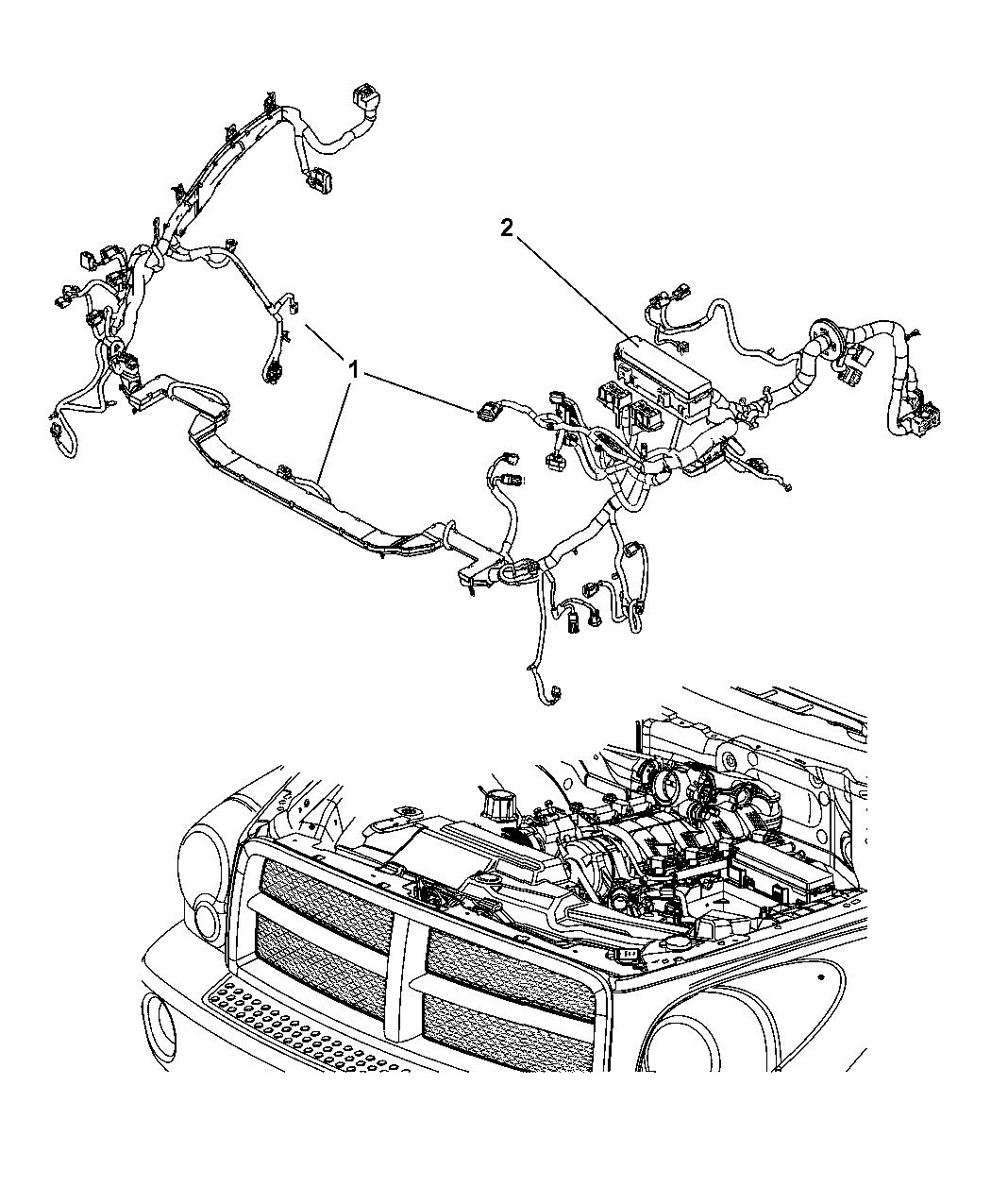 2007 Chrysler Aspen Wiring - Headlamp  U0026 Dash