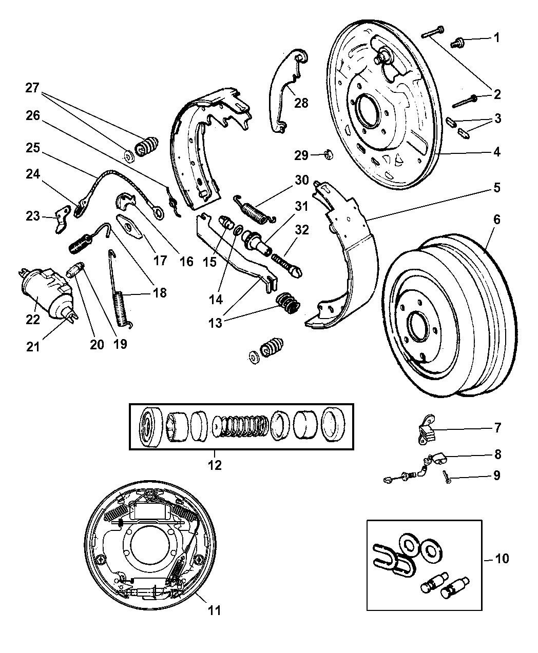 2001 Jeep Wrangler Rear Drum Brakes Mopar Parts Giant Power Wheels Diagram