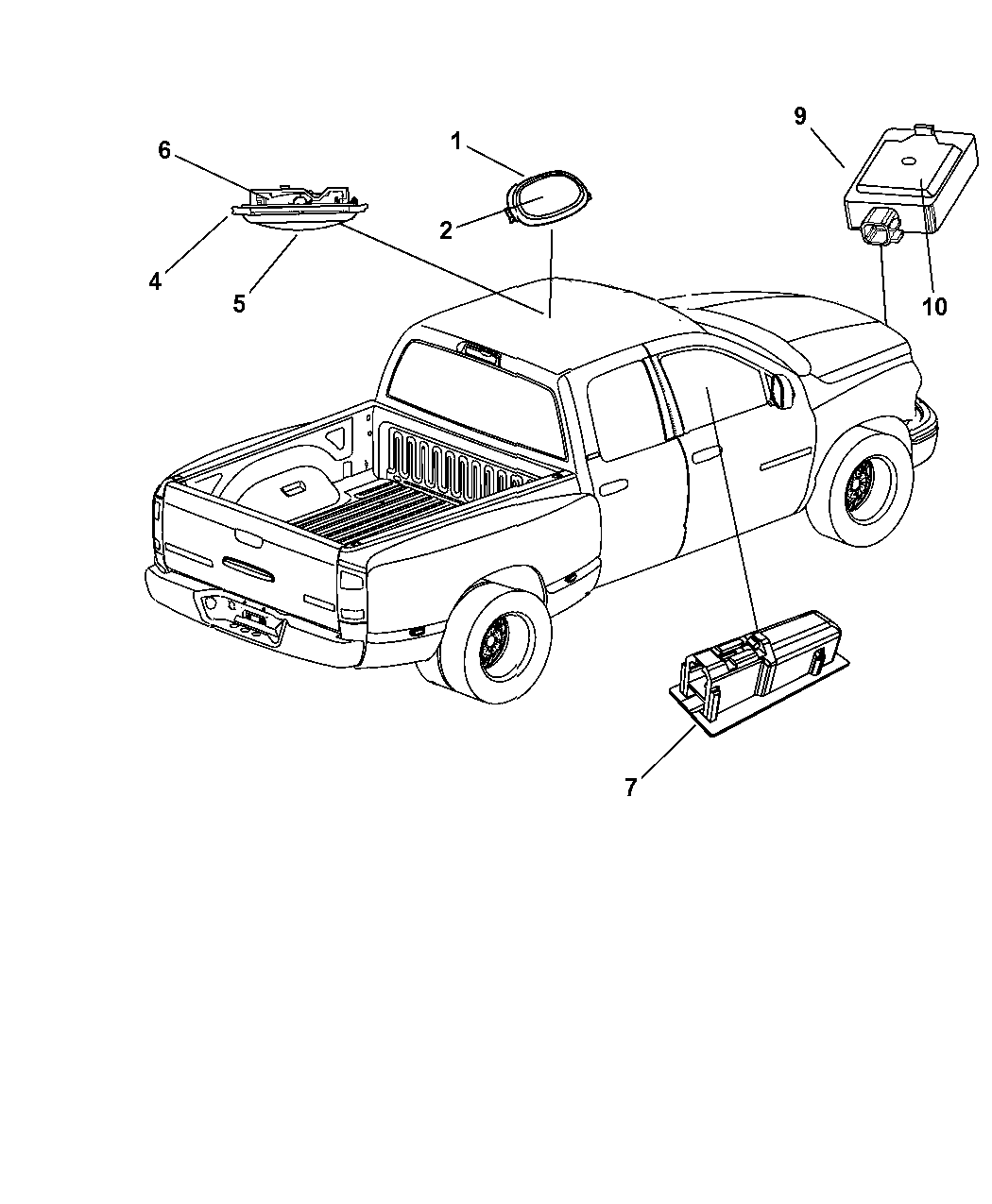 1au40bd1aa Genuine Dodge Console Overhead Console