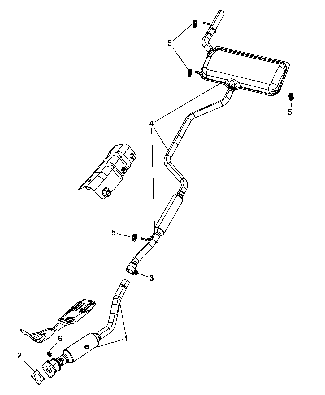 2010 Dodge Journey Exhaust System Mopar Parts Giant Pics Photos Detail Diagram For Thumbnail 4