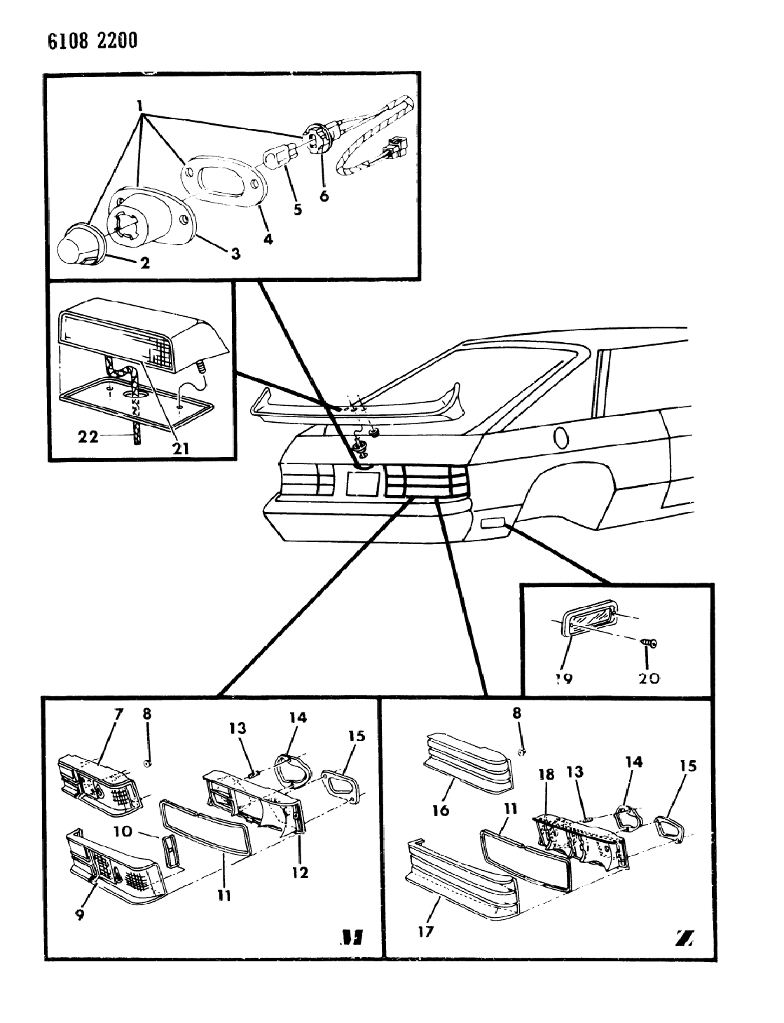 1986 dodge charger lamps & wiring - rear - thumbnail 1