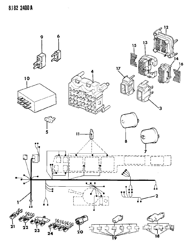 1988 Jeep Grand Wagoneer Fuse Panel