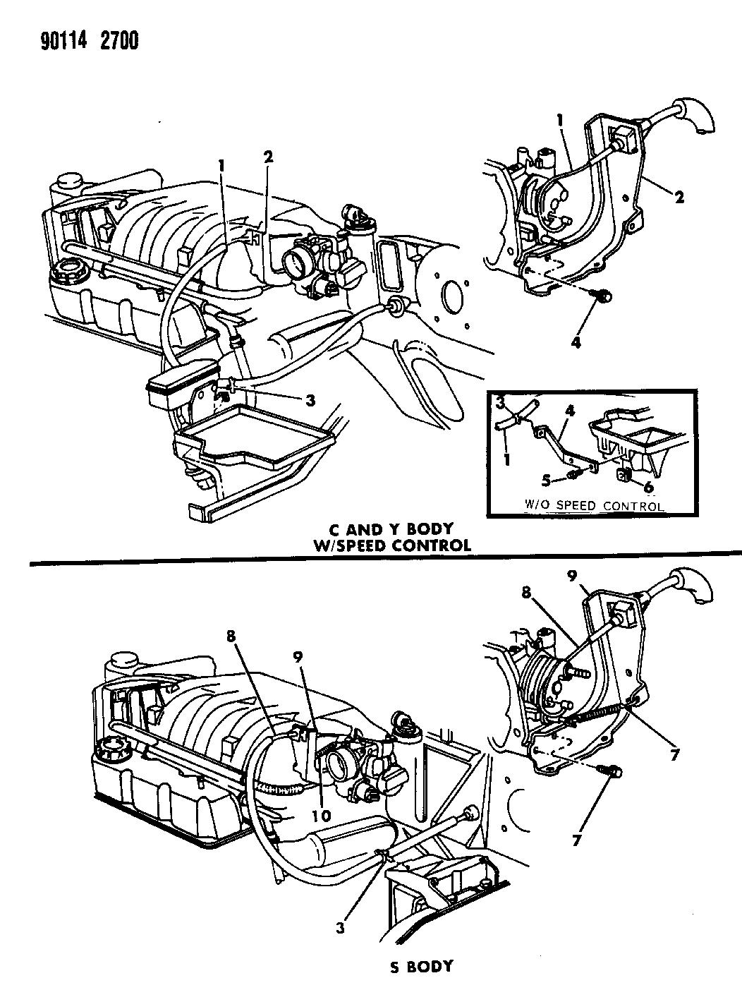 1990 chrysler new yorker fifth avenue throttle control