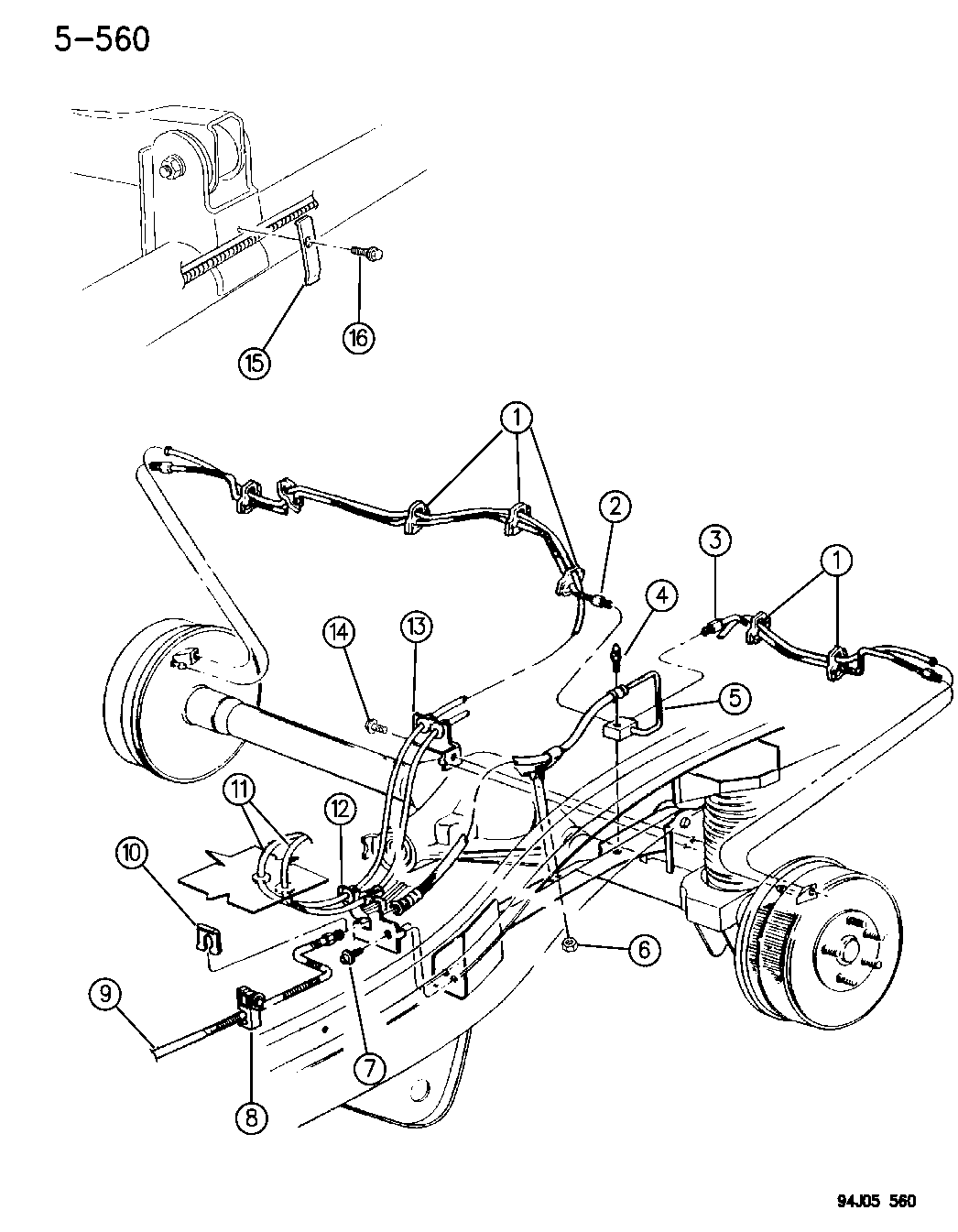 1994 jeep grand cherokee brake lines  u0026 hoses  rear