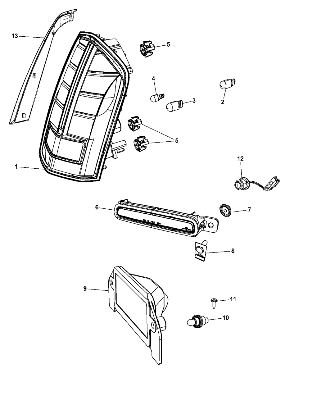 Mopar Lamp Tail Stop Turn~68154605ac on 2012 Chrysler Warranty