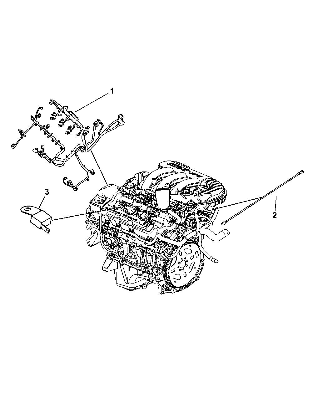 2008 Dodge Charger Wiring - Engine - Mopar Parts Giant